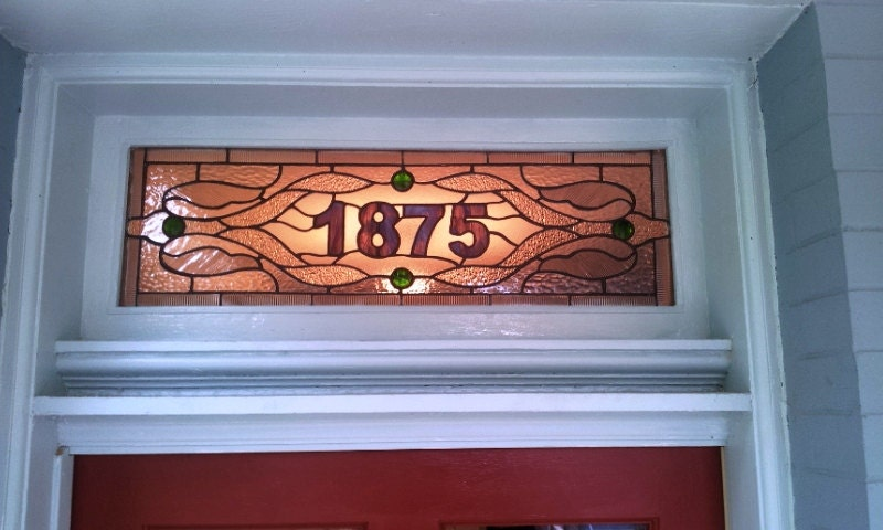 Stained Glass Transom Window Traditional Design