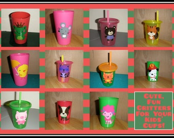 Tumbler Personalized Child Cup with your choice of design