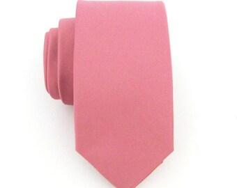 Skinny Tie. Mens Ties  Dutsy Pink Skinny Necktie