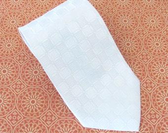 Mens Tie - White Silk Men's Necktie