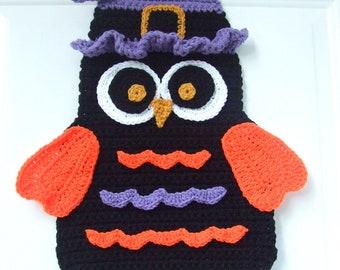 CROCHET PATTERN - CV100 Halloween Owl Door Hanging - PDF Download
