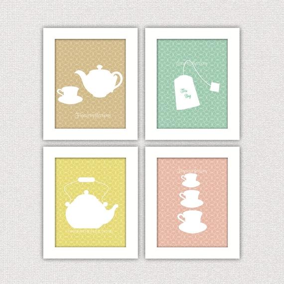 Kitchen Art Prints: Items Similar To French Modern Kitchen Wall Art Prints Set