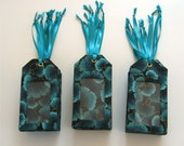 Teal Luggage tags for wedding escort, favors, place cards, 50 pack