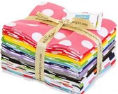 Riley Blake Designs Fat Quarter Bundle- Medium Dots 15 Pack