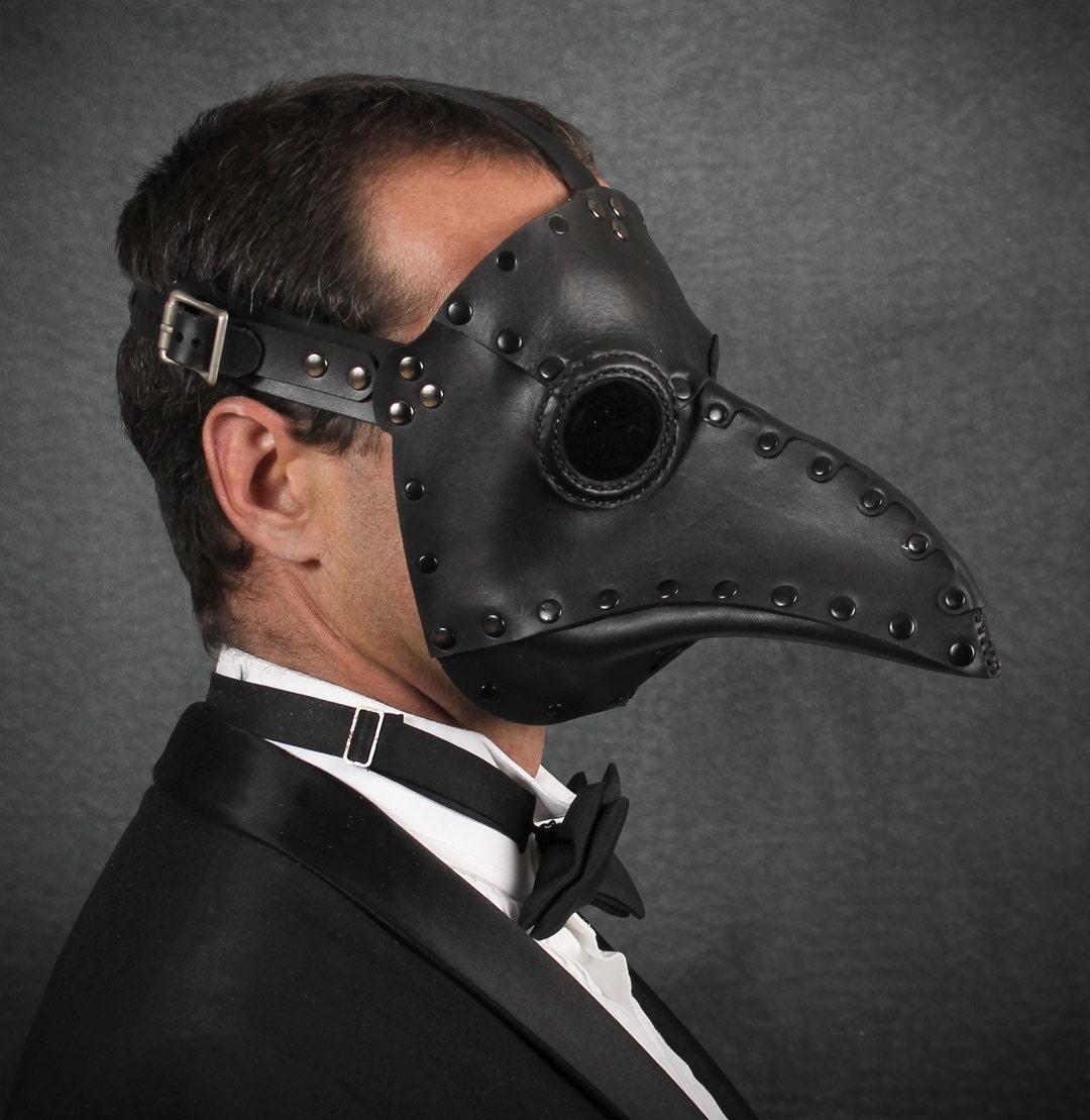 "Plague Doctor mask in Black ""Krankheit"" steampunk buy now online"