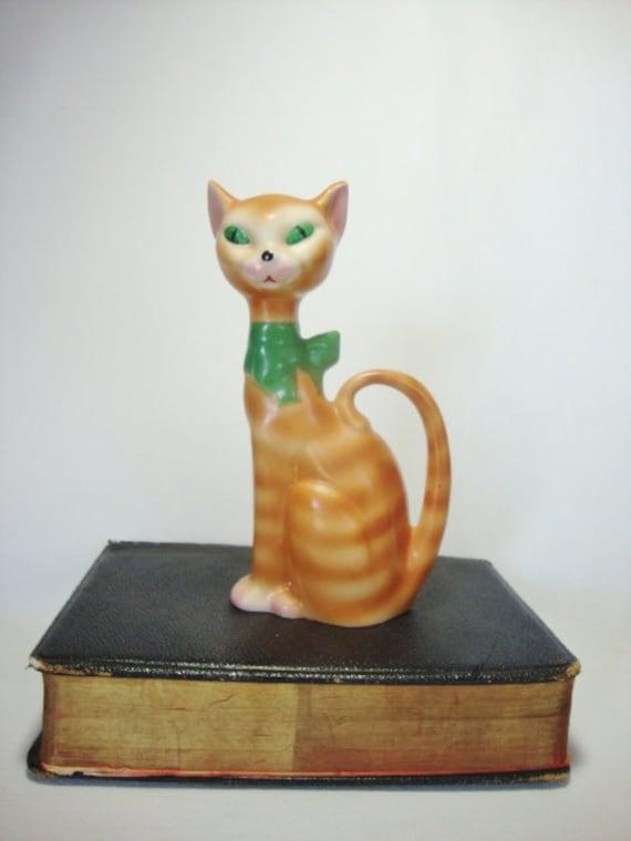 Vintage Hagy Ceramic Studio Pottery Orange Cat San Antonio
