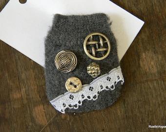 My Little Jar of Buttons Brooch