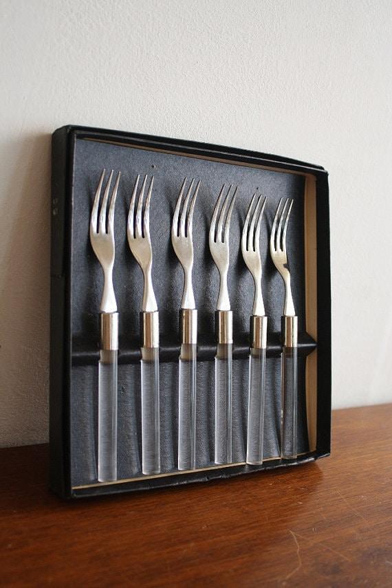Vintage lucite knives & forks