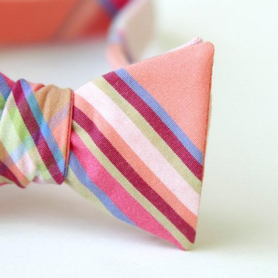 peach love freestyle bow tie