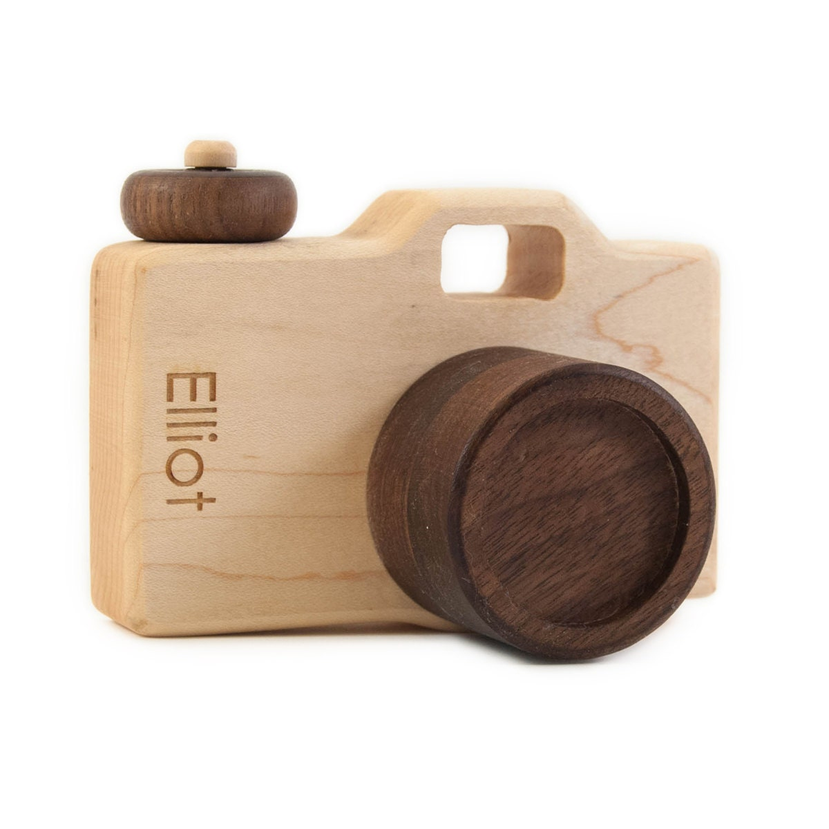 Personalized Wooden Toy Camera Imaginative Play Pretend