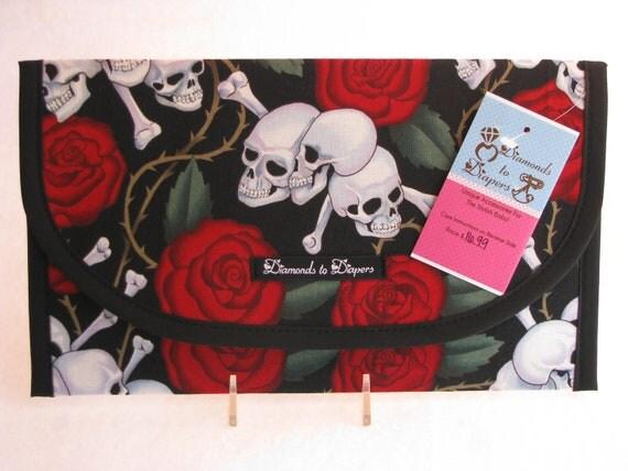 Skulls Diaper and Wipes Case Holder Clutch