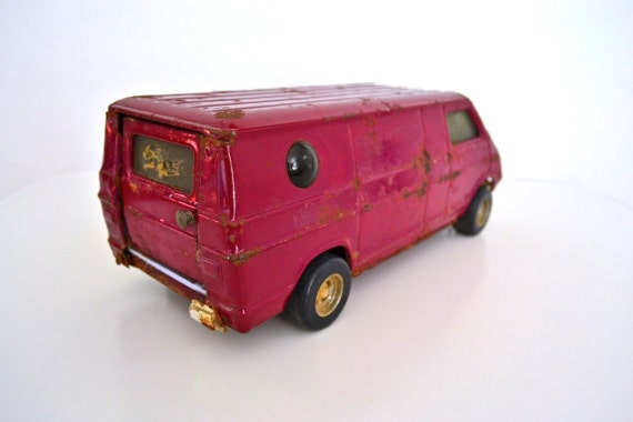 "Large 10"" Purple Toy Van by The Ertl Co. 70's Vintage"