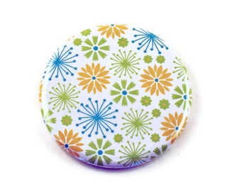 Cosmetic Mirror Pocket Mirror  in  Daisy Dance Green  (PM76)