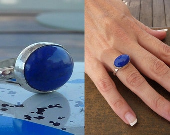 Lapis lazuli ring, Lapis ring, blue ring, Natural Lapis ring, Lapis lazuli, Gemstone ring, Artisan ring, blue Statement ring