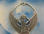 Silver Ox Plated Egyptian Goddess Isis Pendant 753SOX x1