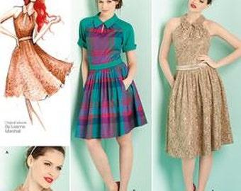Simplicity 1755 Leanne Marshall Dress Pattern Uncut Size 4-12