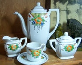 Vintage Made in Japan Lustre Ware Tea Chocolate Set Service for 4