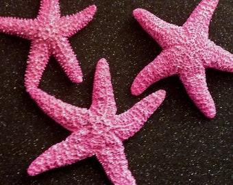 Pink, Pink starfish,Starfish, ocean, Beach wedding, tropical wedding, bridal, starfish barrette, starfish hair clip, fish, ocean clip
