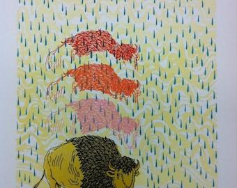 BUFFALO RAINBOW screen print