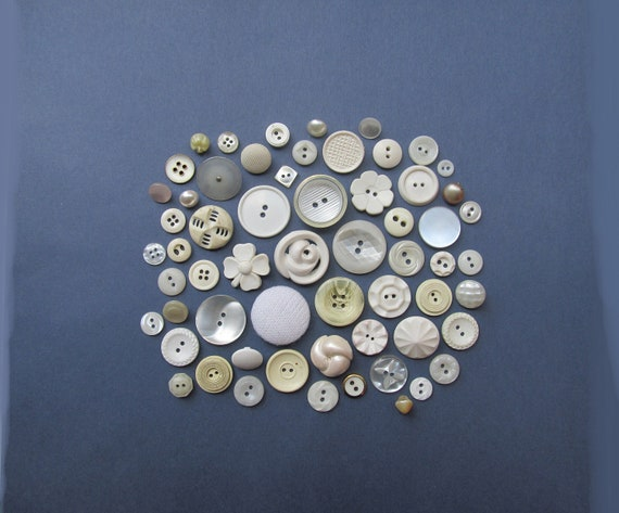 Sugar and Cream Vintage Buttons