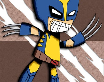 Wolverine Art Print X-Men Illustration Super Hero