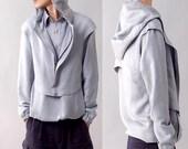 Vol de Nuit  -  military uniform inspired top and vest set (Y1222)