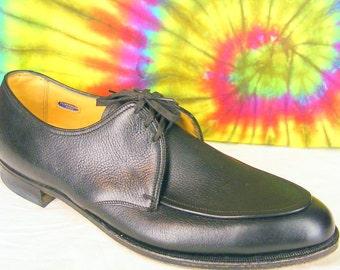 11.5 A mens vintage black leather FLORSHEIM oxfords shoes NOS 11.5 narrow
