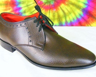 size 7.5 D mens vintage 50's-60's brown leather 20 GRAND oxfords shoes NOS
