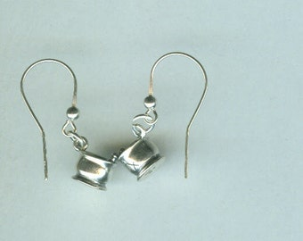 Sterling Silver PHARMACIST, MORTAR & PESTLE Earrings - French Earwires - Pharmacy, Medical