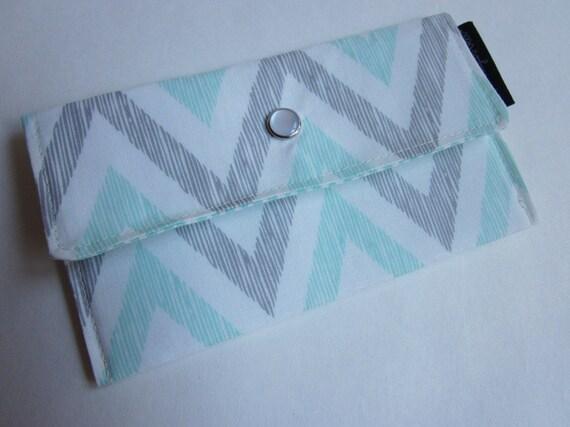 Minty Chevron - Mini Wallet