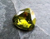 Vintage Swarovski Light Olivine Crystal Cabochon Stone-Article 4723-1 Stone