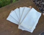 Dinner Napkins Farmhouse Organic Fabric Handmade Dining Entertaining Tabletop Wedding Table Settings French Country