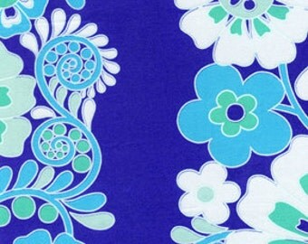 Jennifer Paganelli JP44 Queen Street Madeline Periwinkle Cotton Fabric 1 Yard