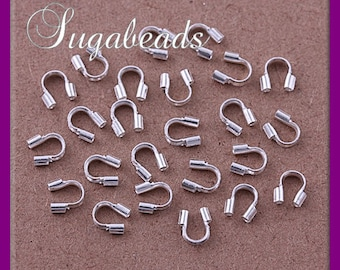 50 Wire Guards, Silver plated over Copper Wire Guardians 5mm