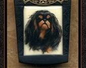 King Charles English Toy Spaniel dog pin/brooch