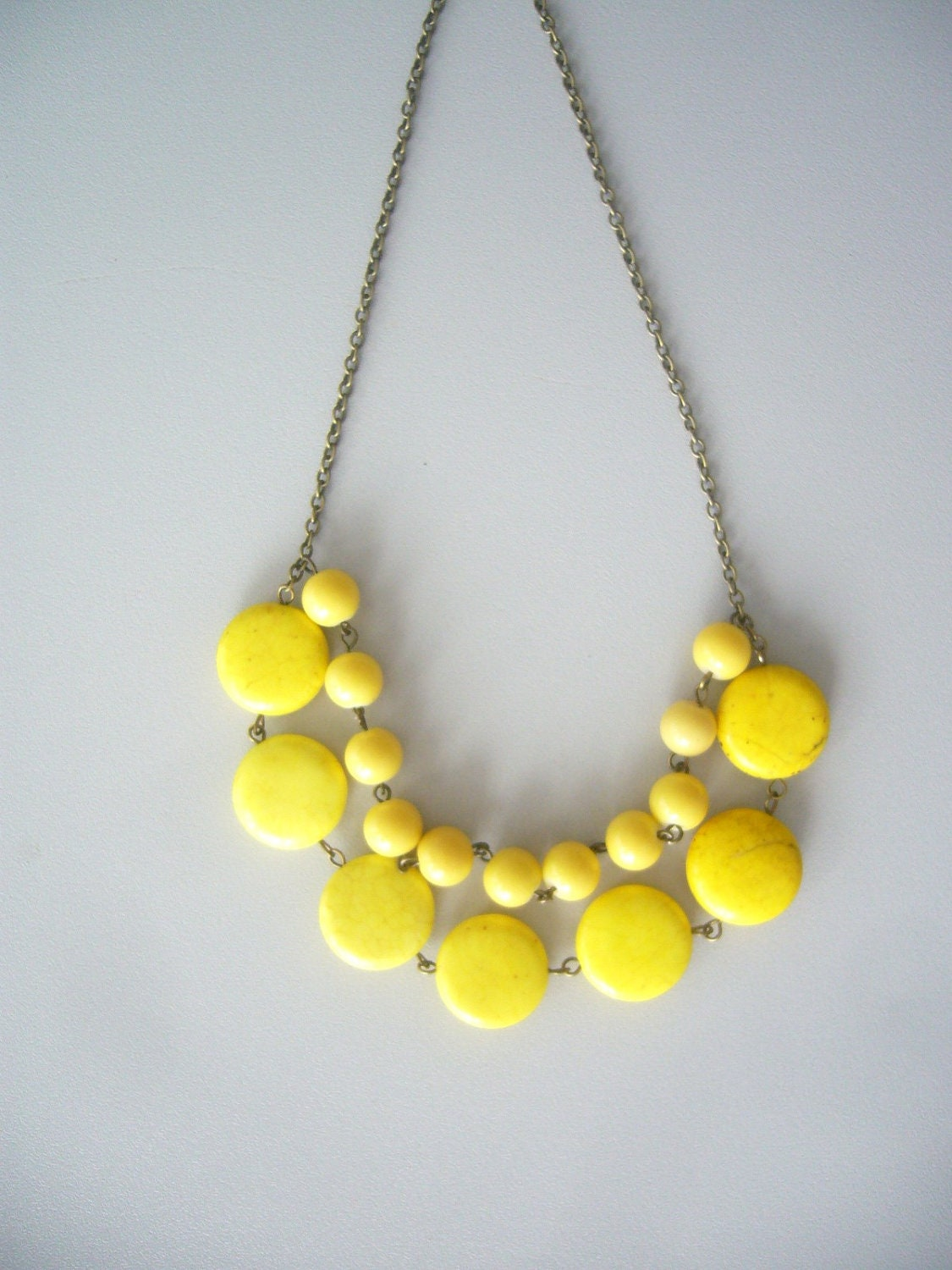 yellow necklace by stavroula on etsy