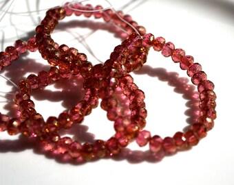 Rosaline Luster 5x3mm Rondelle Beads 30