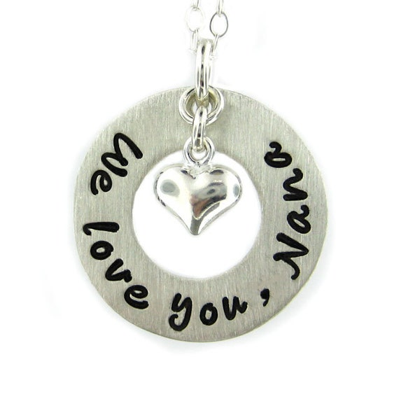 we you nana necklace sted message jewelry