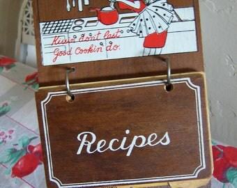 cute cute wooden recipe file stand