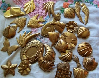 thin brass supplies and jewelry pieces