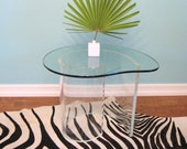 60s MID CENTURY MODERN Curved Lucite Table