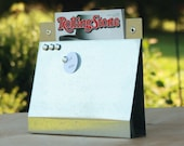 Uncovered Wall Pocket, Magnet Board, File and Mail Holder - Galvanized Steel