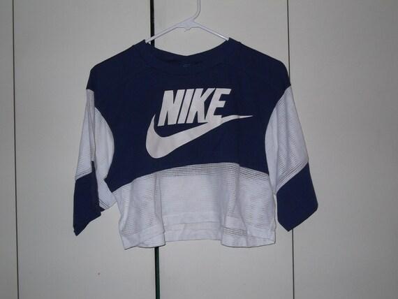vintage 1980s nike half shirt blue tag football jersey medium