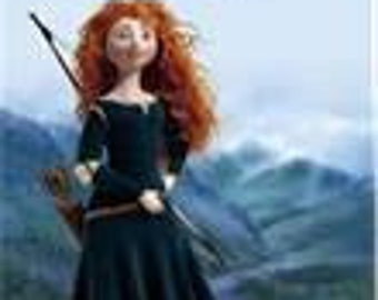 MERIDA from Brave Custom Boutique Dress Up Costume size 3/4