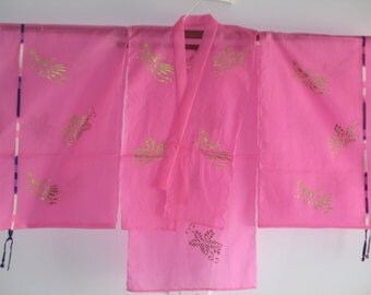 Sheer Pink Cosplay Hagoromo Kimono Top