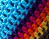 Sky Crochet Earflap Hat
