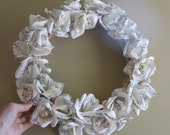 Musical Rose Wreath - 16 inches