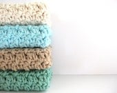 cotton crochet washcloth/bath scrubbies AND you can pick the colors