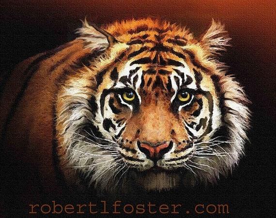 Y Tigers Are Endangered tiger art tiger print ...