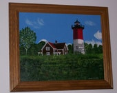 Nauset Light Cape Cod MA Canvas Painting
